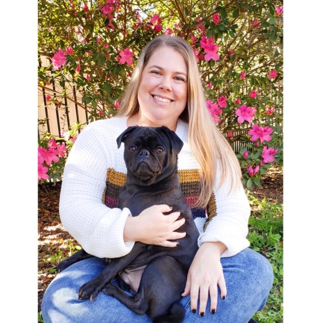 Just a Girl and Her Pug